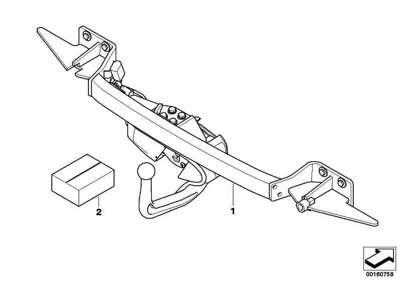 Anhängerkupplung elektrisch schwenkbar  5er  (71606795731)