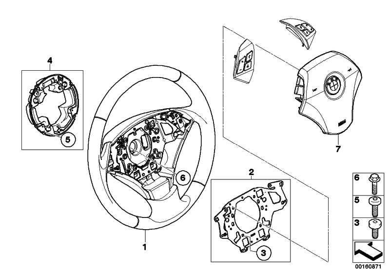 Airbagmodul Fahrerseite  5er  (32346774449)