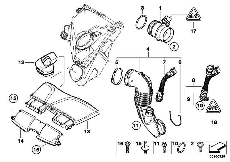 Rohr  5er 7er X1 X3 X5 X6  (13717810772)