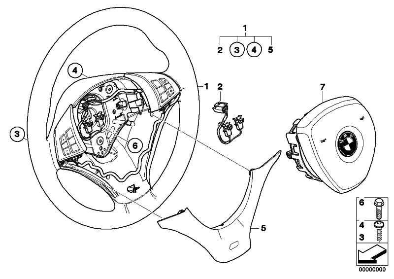 Airbagmodul Fahrerseite  X5 X6  (32306780476)
