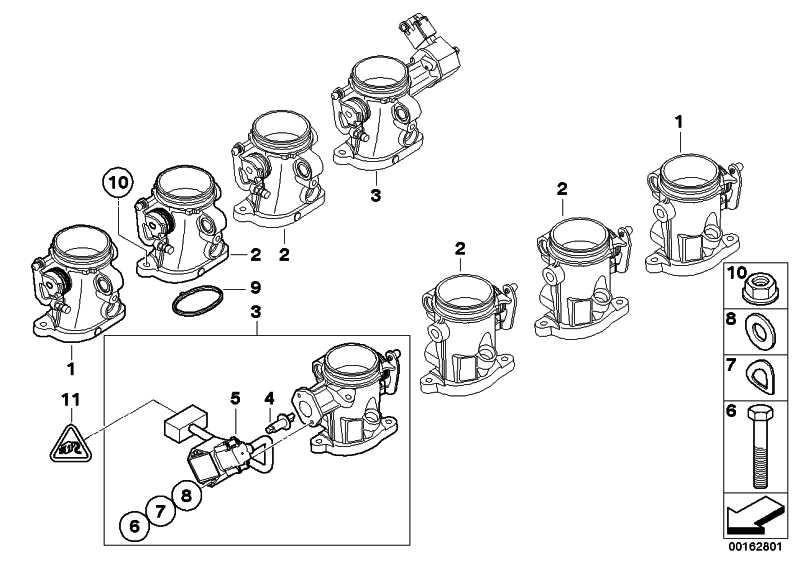 Drosselklappenstutzen mit Hallsensor ZYL. 4,5        3er  (13547841816)