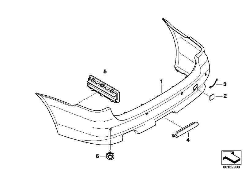 Verkleidung Stossfänger grundiert hinten PDC             5er  (51127184750)