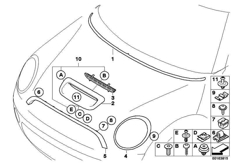 Lufteinlassblende Carbon J. COOPER WORKS MINI  (51130415378)
