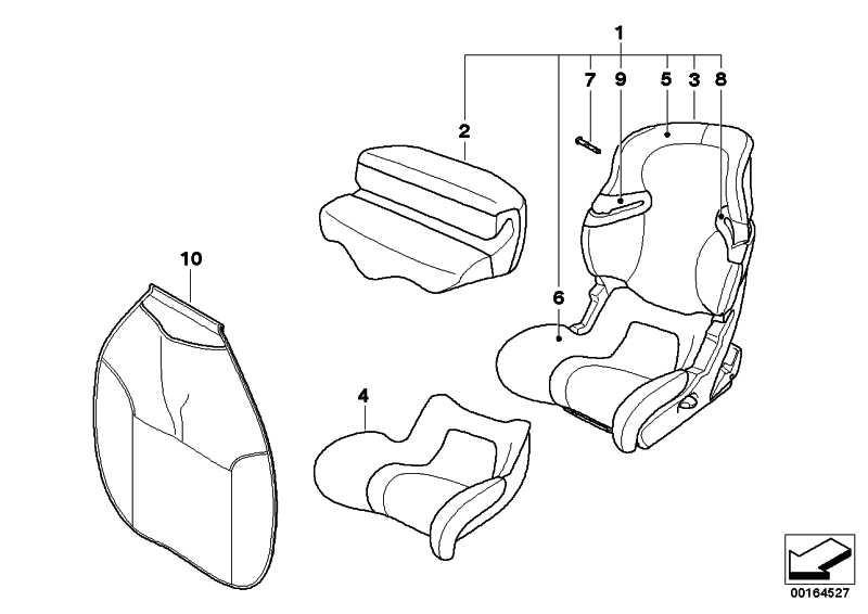 MINI Junior Seat I-II SCHWARZ-ORANGE MINI  (82222162882)
