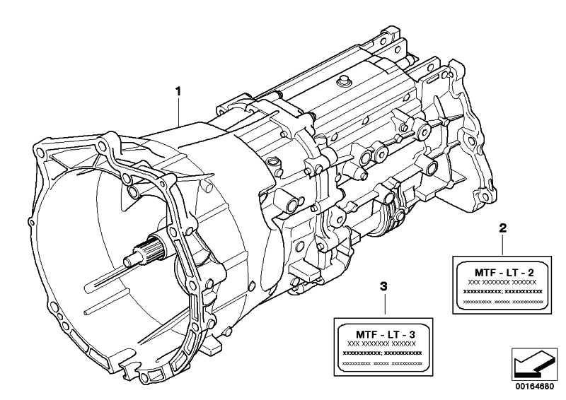 Austausch 6 Gang Getriebe GS6X37DZ - THRD X3  (23003428269)