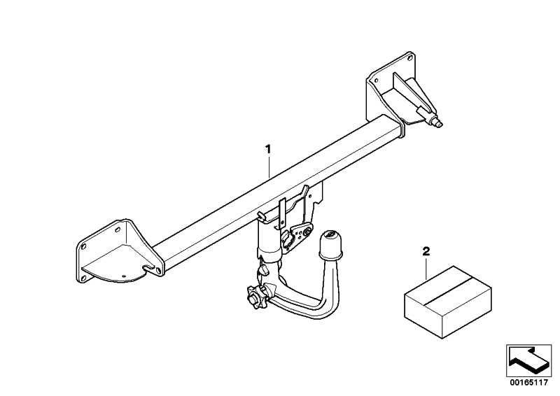 Anhängerkupplung mit abnehmb. Kugel  MINI  (71606850980)