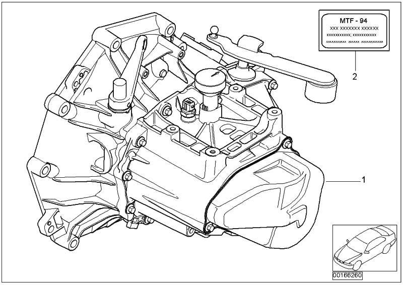 Aufkleber Getriebeöl MTF-94          MINI  (23007577804)