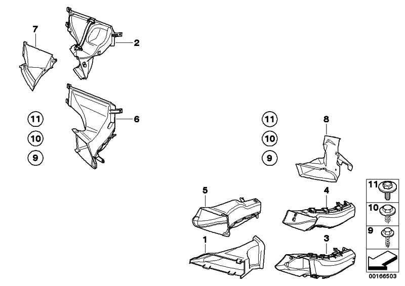 Luftführung Bremse vorne links  3er  (51747154417)