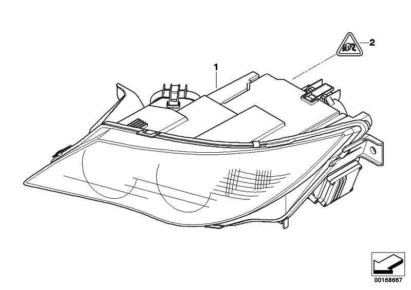 Scheinwerfer Bi-Xenonlicht rechts  6er  (63127186804)