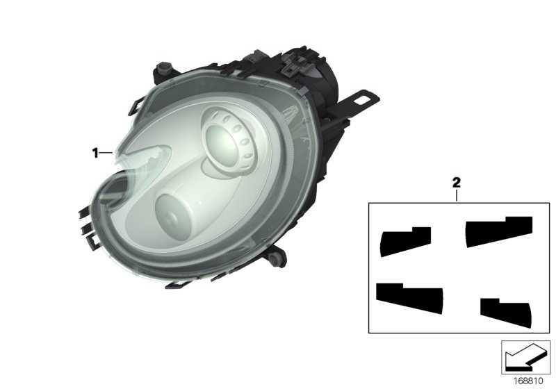 Scheinwerfer Bi-Xenonlicht rechts  MINI  (63127269984)