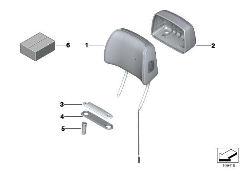 Kopfstütze Basis Stoff AWAT ANTHRAZIT  5er  (52107234946)