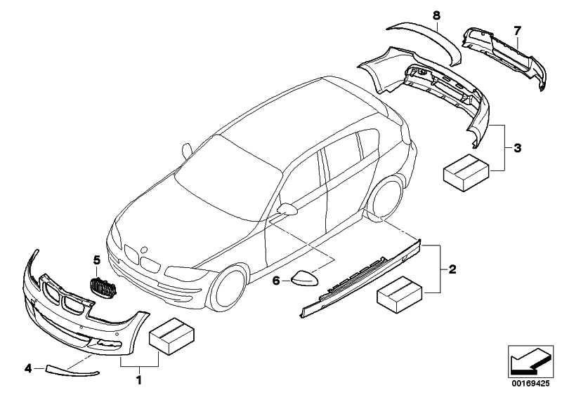 BMW Performance Aero-Paket Heck gru.  1er  (51120442895)