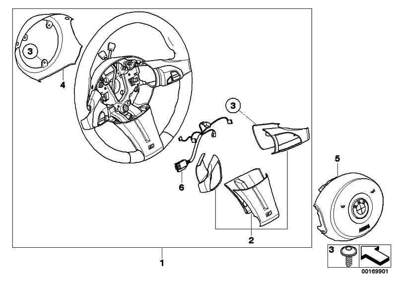 M Sportlenkrad Airb. Leder Multifunktion SCHWARZ         Z4  (32307906780)
