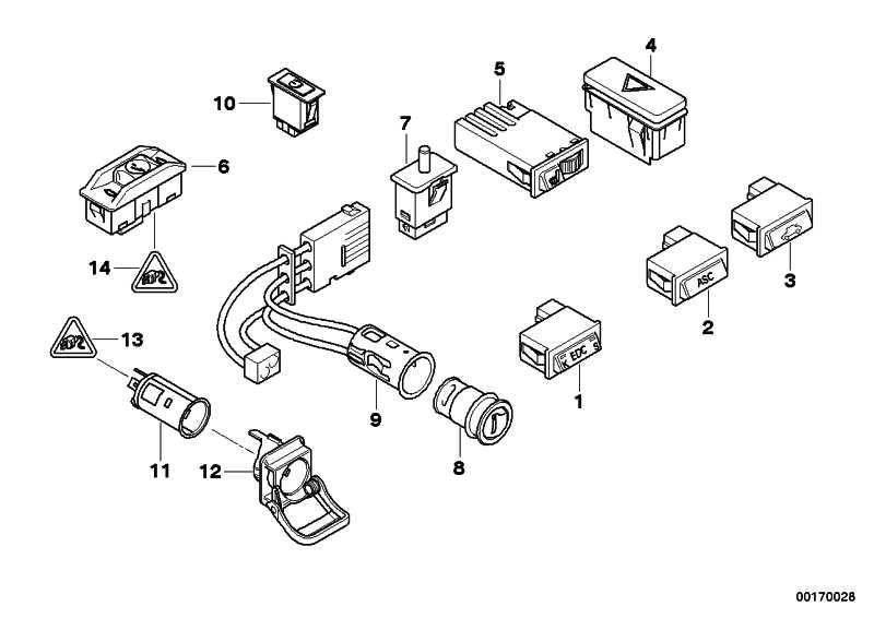 Schalter Reifendruckkontrolle  5er  (61318375413)