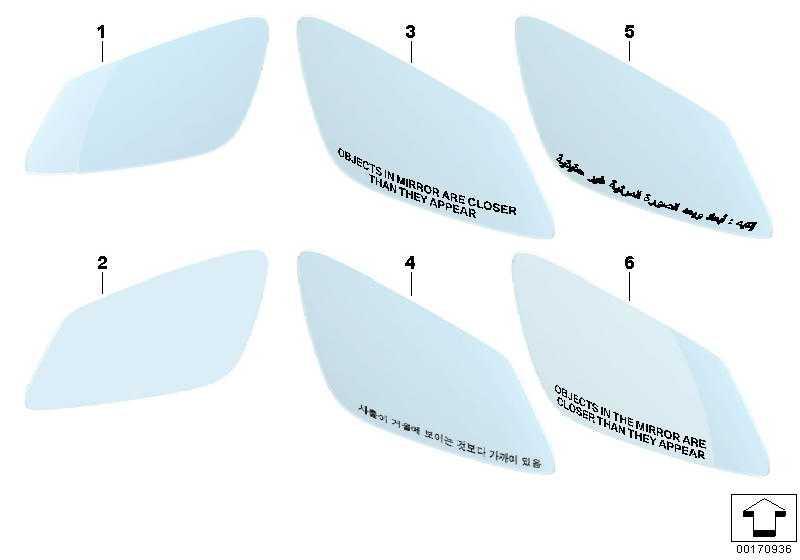 Spiegelglas beheizt Weitwinkel rechts  5er 6er 7er  (51167186588)