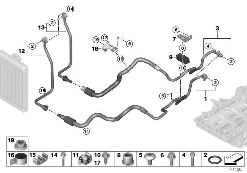 Ölkühlerleitung Rücklauf  X6 X5  (17227576397)