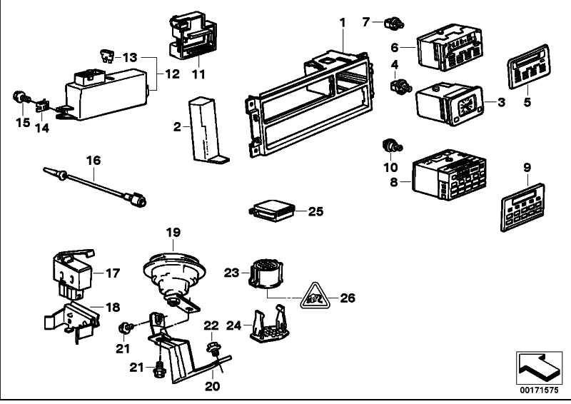 Bedienungselement Bordcomputer  5er 7er  (65811384149)