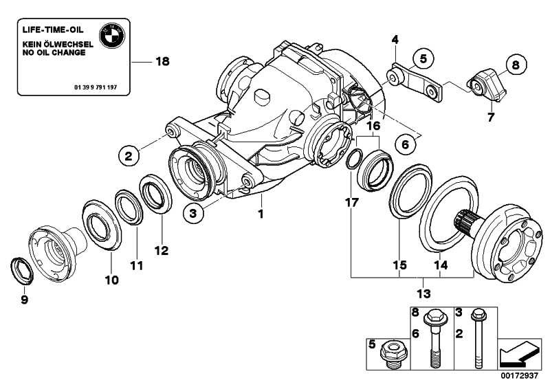 Austausch Hinterachsgetriebe I=2,81          1er 3er  (33107572521)