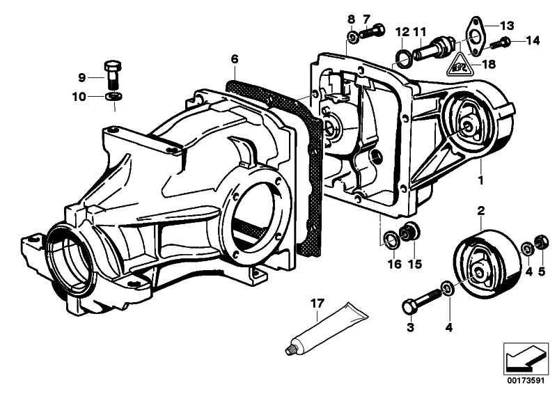 Getriebedeckel mit Gummilager TYP 168         3er Z3  (33111214001)