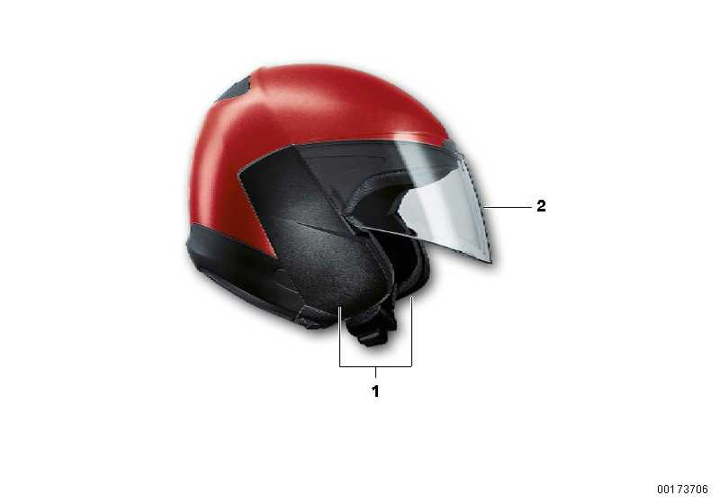 Satz Seitenteile Jet Helm 5 ECE  (72607691288)