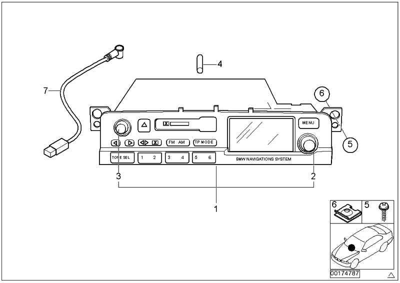 Austausch Radio BMW Navigation  3er  (65126976899)