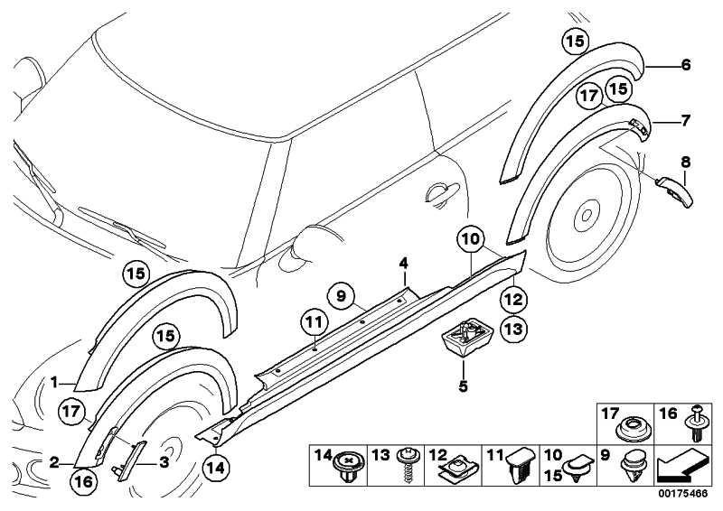 Blende Radlauf grundiert hinten rechts  MINI  (51777216070)