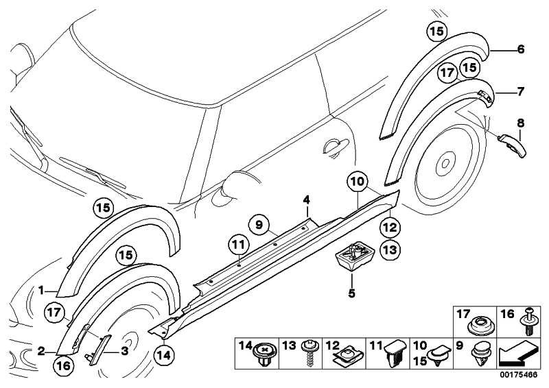 Blende Radlauf grundiert hinten links  MINI  (51777216069)