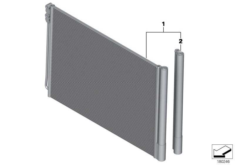 Kondensator Klimaanlage  5er 6er 7er  (64536805452)