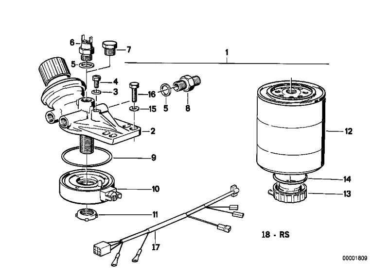 Kraftstofffilterkopf mit Handpumpe  3er 5er  (13322241746)