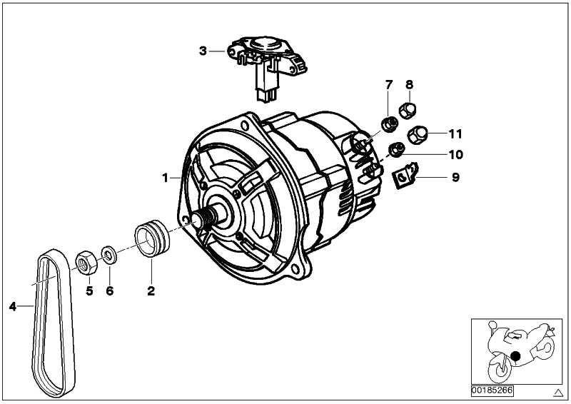 Riemenscheibe Generator D=58,7MM  (12311342075)