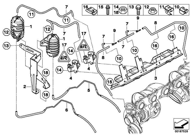 Halter Unterdruckbehälter  1er 3er Z4  (13717558322)
