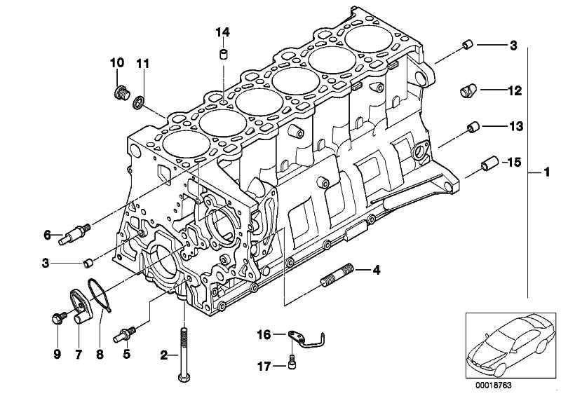 Zylinder-Kurbelgehäuse mit Kolben  3er 5er 7er X3 X5 X6  (11110413973)
