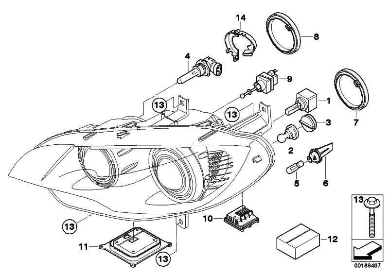 Reparatursatz Scheinwerfer links  X5 X6  (63117205837)