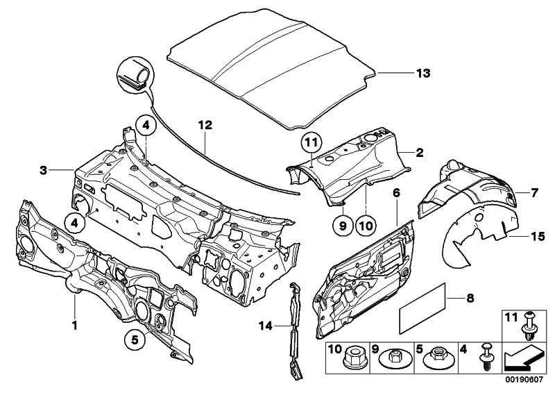 Schallisolierung Stirnwand Motorraum  Z4  (51487012717)