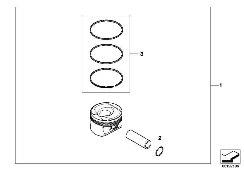 Reparatursatz Kolbenringe (0) 1er 3er MINI  (11257566479)