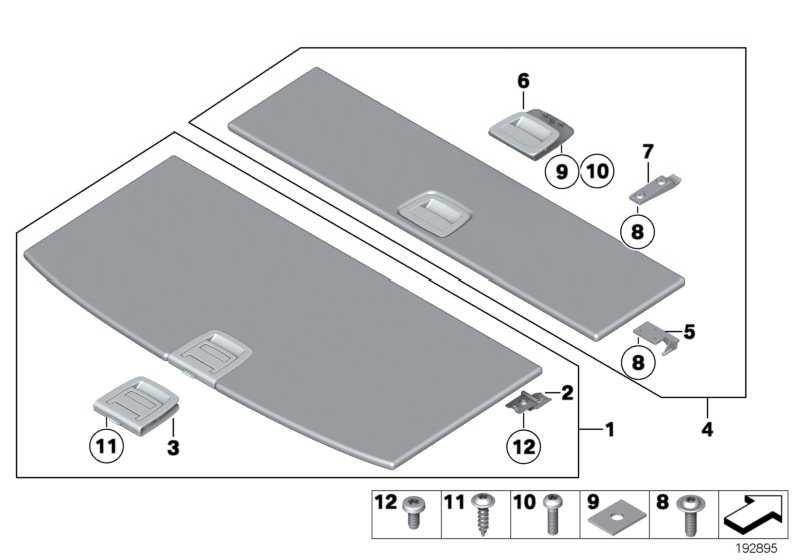 Griff Einlegeboden Gepäckraum VENETOBEIGE 5er  (51477267482)