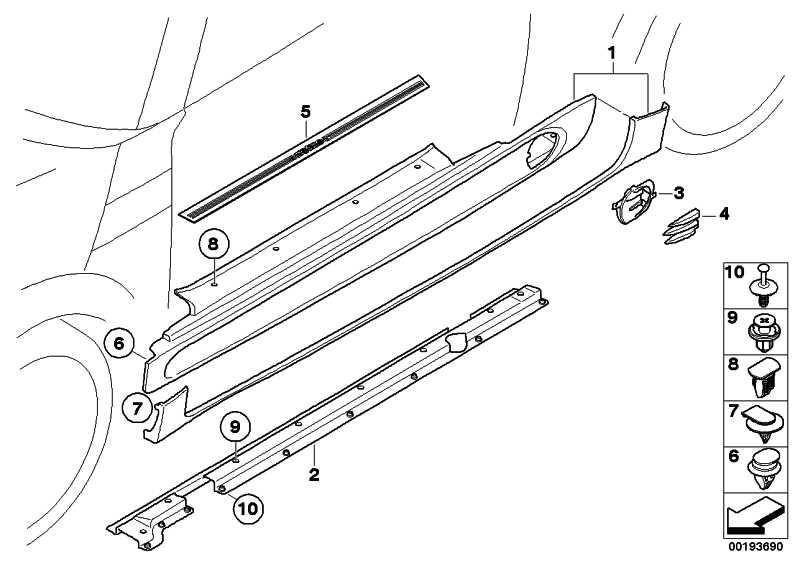 Adapter Schweller links  MINI  (51710413259)