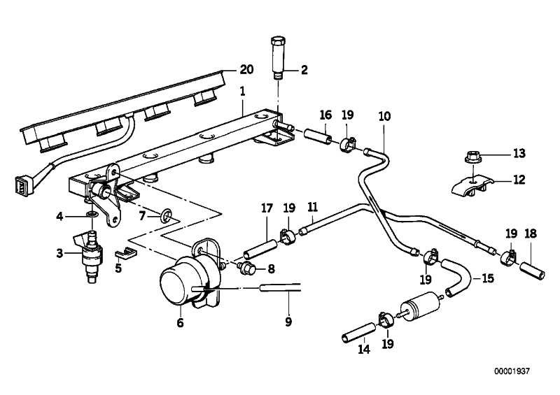 Satz Kraftstoffschlauch/Schelle .45MM/FPM       3er 5er Z3  (13311703489)