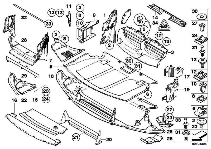 Abschirmung Motorraum vorne mit Absorber  5er  (51757138603)