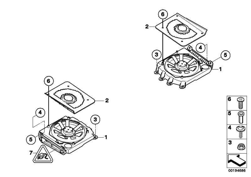 Zentralbass rechts / Indi. Audiosystem  5er 6er  (65137838910)