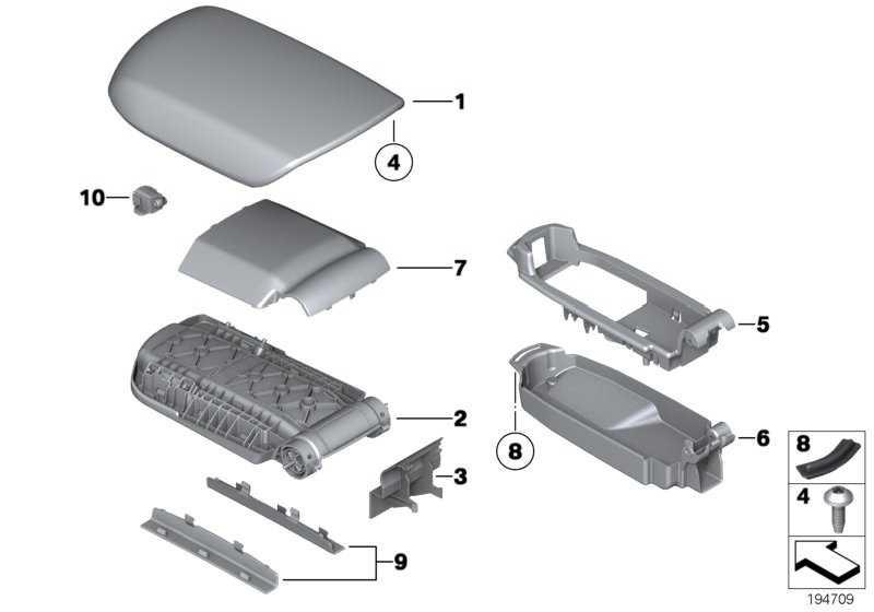 Deckel Armauflage Unterteil  X1  (51162993650)