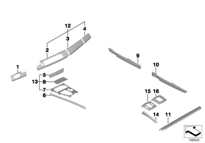 Blende I-Tafel Holz Fineline natur links  7er  (51459155128)