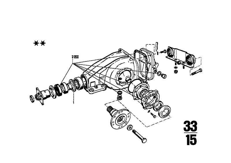 Dichtungssatz Hinterachsgetriebe   3er  (33101203002)