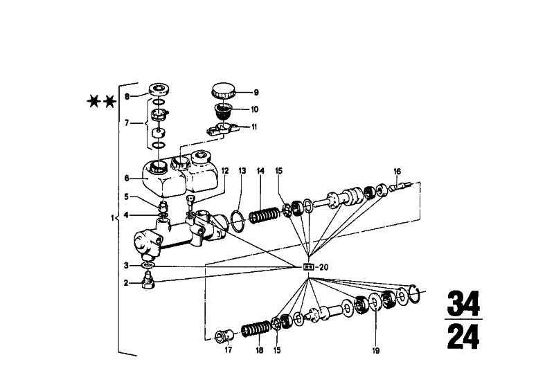 Hauptbremszylinder D=20,64MM         (34311113656)