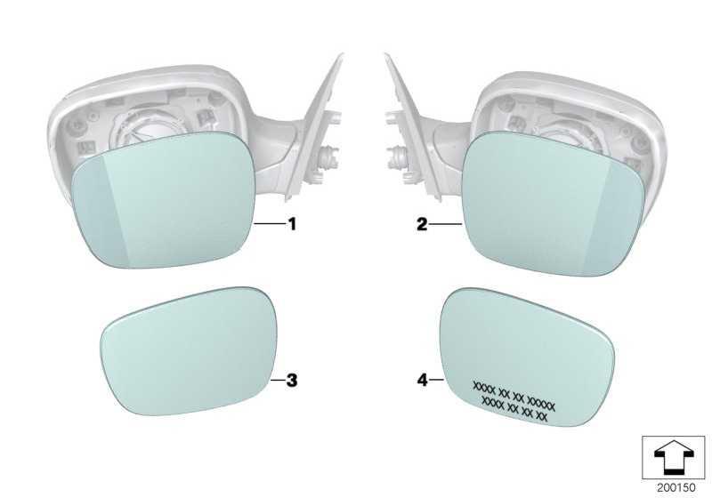 Spiegelglas Weitwinkel rechts  X1 X3  (51162991660)