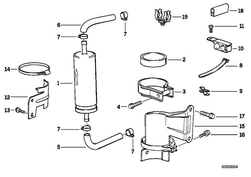 Kraftstofffilter D=55MM/L=260MM  3er 5er 8er Z3  (13321740985)