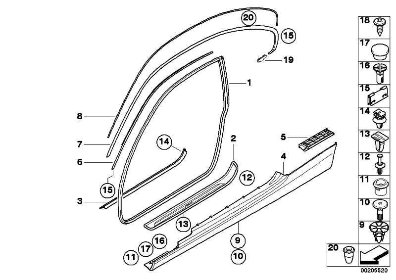 Schwellerleiste lackiert links CODE - UNI/MET. 3er  (51770038433)