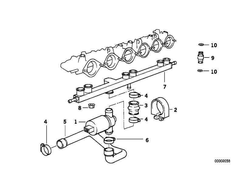 Leerlaufregelventil T-Form  3er 5er 7er 8er Z3 Z4 Z8  (13411733090)