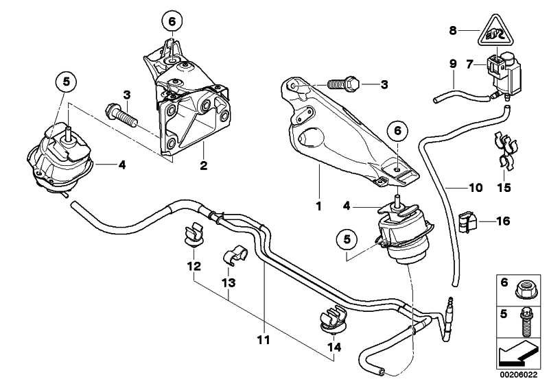 Motorlager  X5 X6  (22116795418)