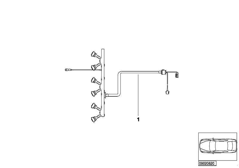 Kabelbaum Motor Zündmodul  3er  (12517515716)